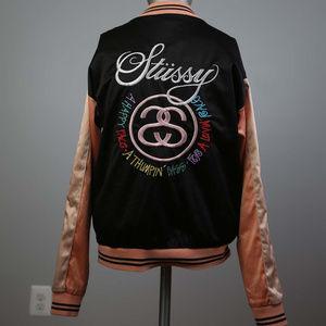 Stussy Women's Jacket XS Satin Embroidered VTGrare